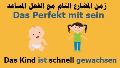 زمن-المضارع-التام-Das-Perfekt-مع-الفعل-المساعد-sein