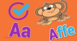 تمرين الأطفال على الحروف الالمانية بفيديو تفاعلى