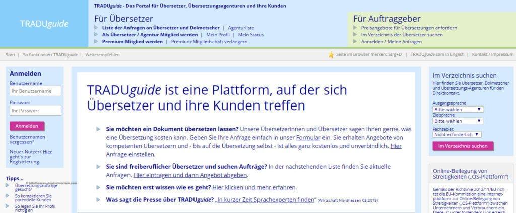 موقع TRADUguide للعمل الحر على الإنترنت كمترجم ألمانى
