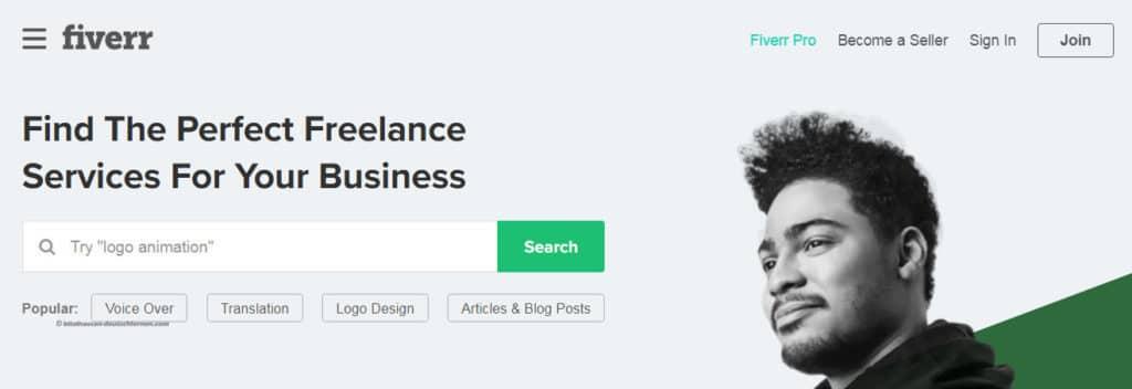 موقع fiverr للعمل الحر على الإنترنت