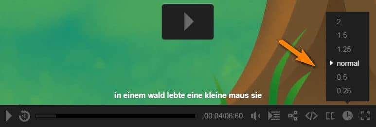 التحكم فى سرعة الفيديو