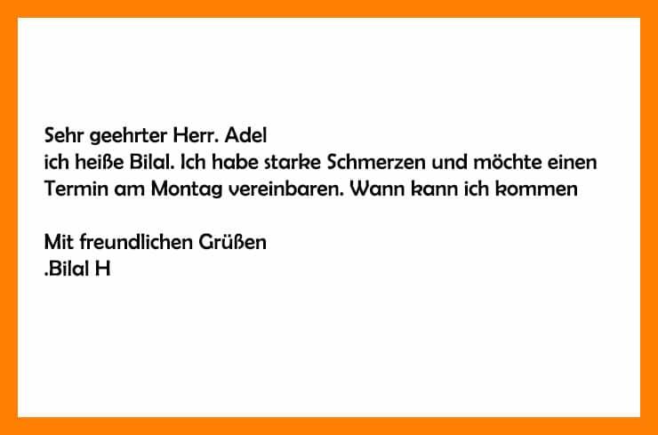 كتابة رسائل بالالمانية