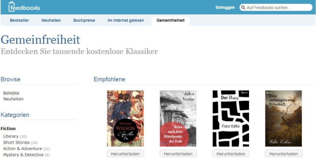 موقع feedbooks لتحميل الكتب الالمانية مجانا