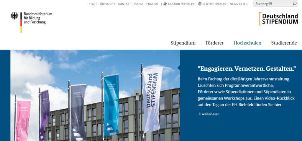 منحة دويتشلاند الدراسية Deutschland Stipendium