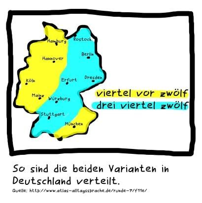 الحياة اليومية فى ألمانيا الإختلاف فى وصف الوقت بين الشرق والغرب