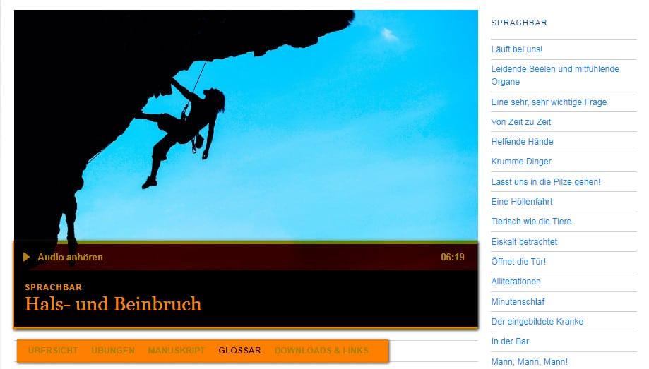 بودكاست تعلم اللغة الألمانية SPRACHBAR للمتقدمين من DW