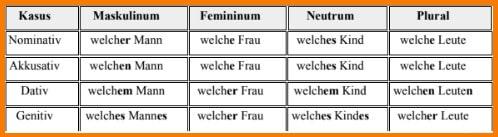 ضمائر الإستفهام فى اللغة الألمانية welch